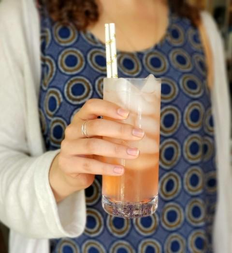 Guava Lemonade in a JoyJolt Stella Glass on ShockinglyDelicious.com