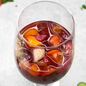 Merlot Sangria easy recipe on ShockinglyDelicious.com