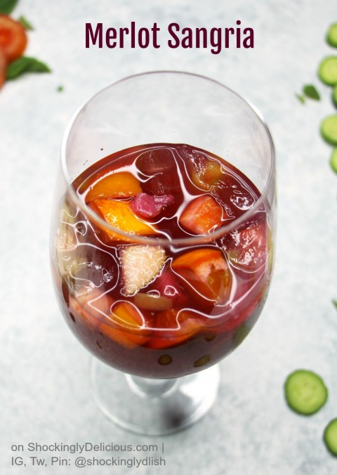 Merlot Sangria recipe on ShockinglyDelicious.com