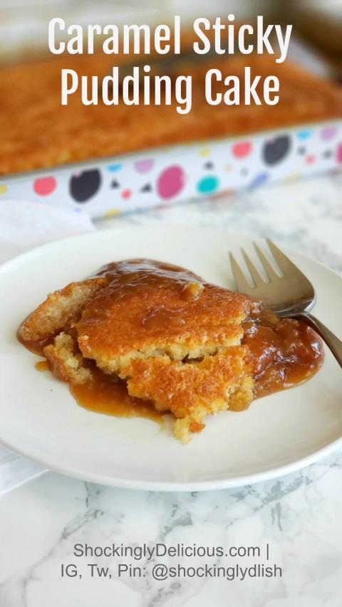 Caramel Sticky Pudding Cake recipe on ShockinglyDelicious.com