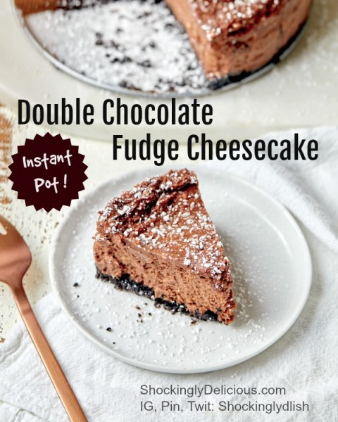 Double Chocolate Fudge Cheesecake