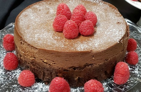 Double Chocolate Fudge Cheesecake in the Instant Pot on ShockinglyDelicious.com