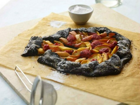 Fruit Galette with Chocolate Crust from The Healthy Jewish Kitchen