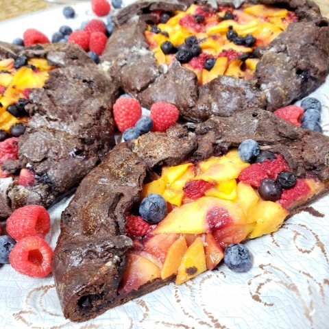 Fruit Galette with a Chocolate Crust recipe on ShockinglyDelicious.com