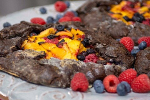 Paula Shoyer's Fruit Galette with a Chocolate Crust on ShockinglyDelicious.com