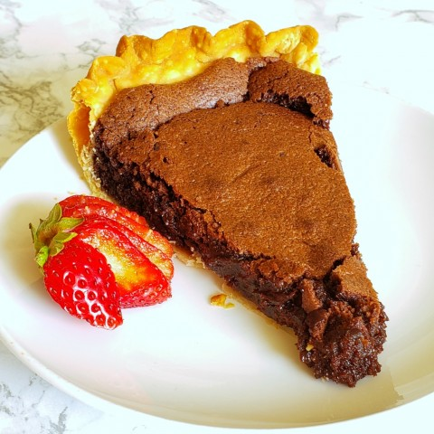 Easy Old Fashioned Fudge Pie on ShockinglyDelicious.com