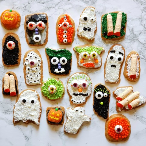 Spooky Shortbread Cookies (Lemon-Vanilla Shortbread)