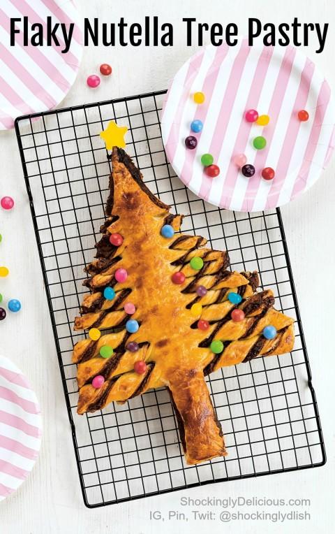 Easy Flaky Nutella Tree Pastry on ShockinglyDelicious.com