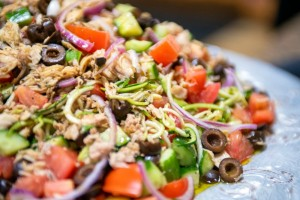 Provencal Tuna and Shredded Zucchini Salad on ShockinglyDelicious.com