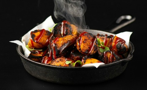 Smoky Burnt Ends Potato Recipe on ShockinglyDelicious.com