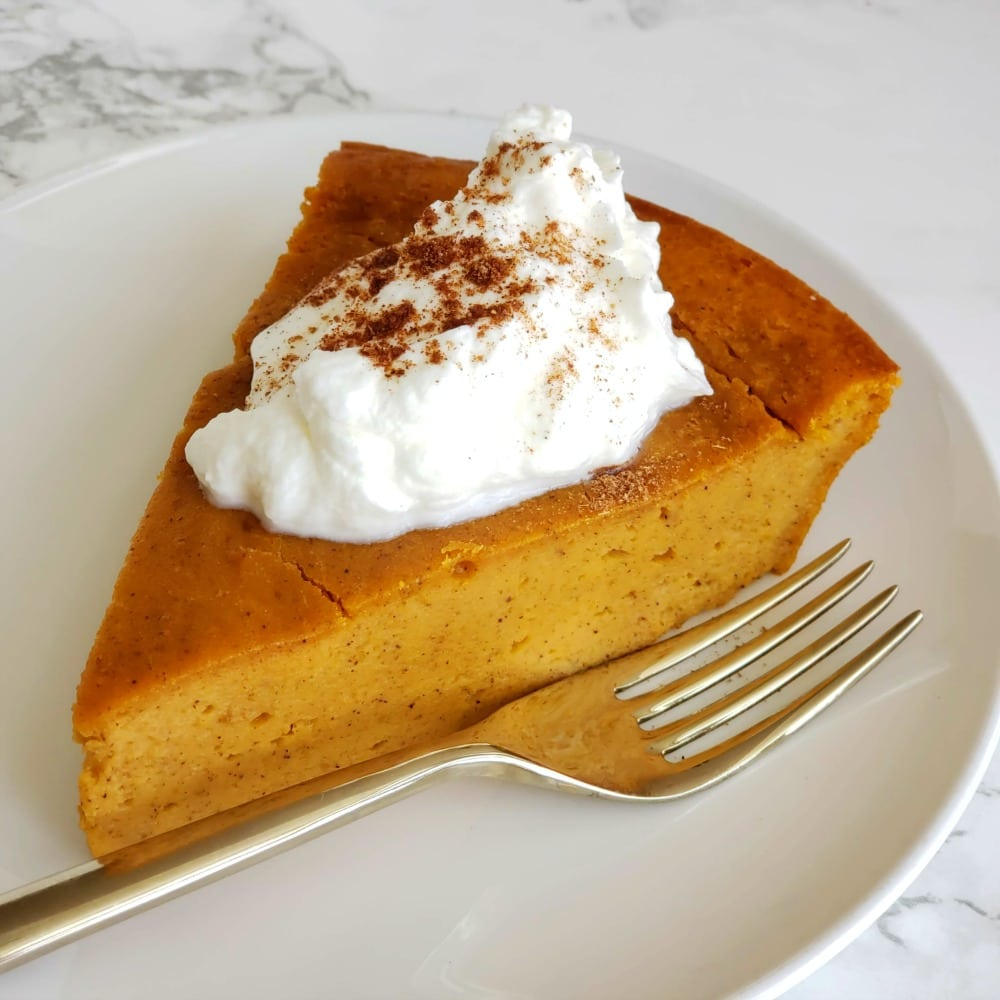 Pumpkin Impossible Pie has you whirl pumpkin custard ingredients in a blender with baking mix, for a flavor-packed crustless pie. This pie is all about the creamy pumpkin filling!