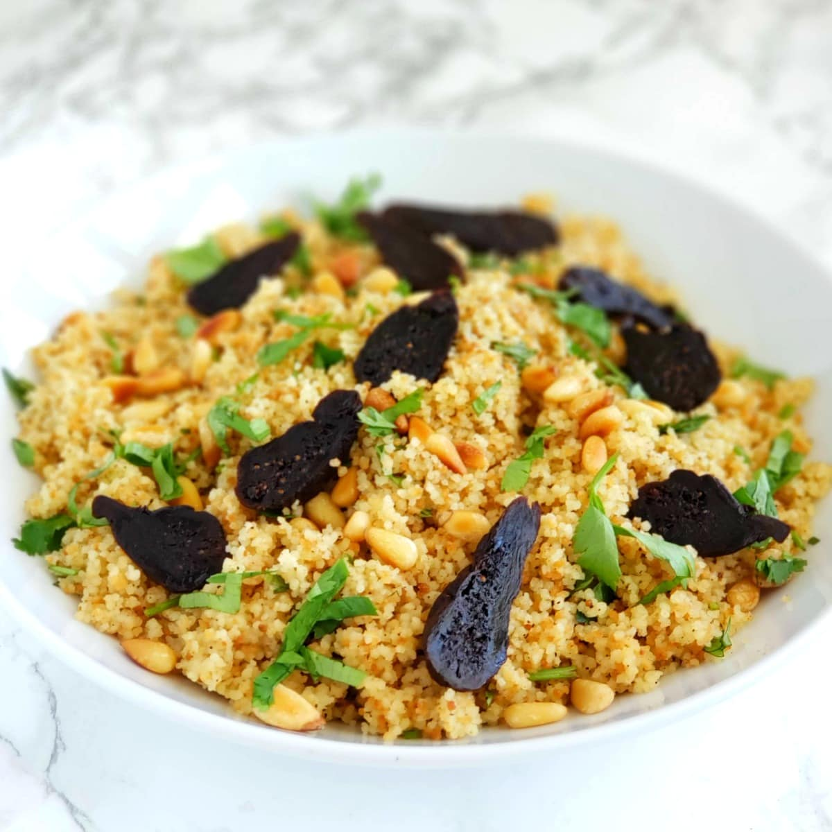 Couscous with Cumin and Pine Nuts and Figs on ShockinglyDelicious.com