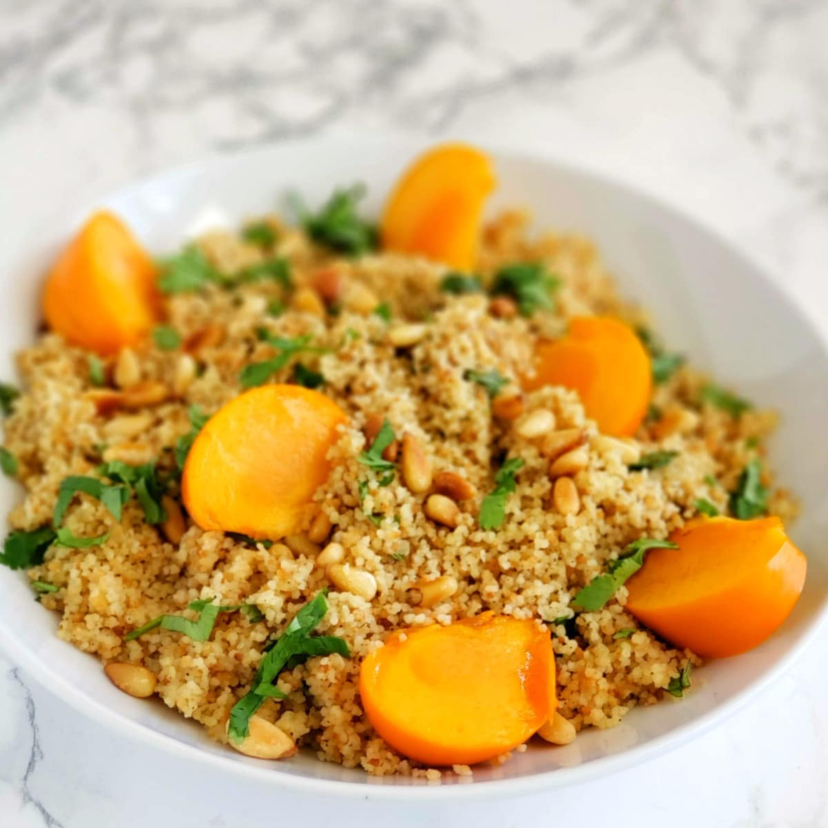 Couscous with Cumin and Pine Nuts and Persimmons on ShockinglyDelicious.com