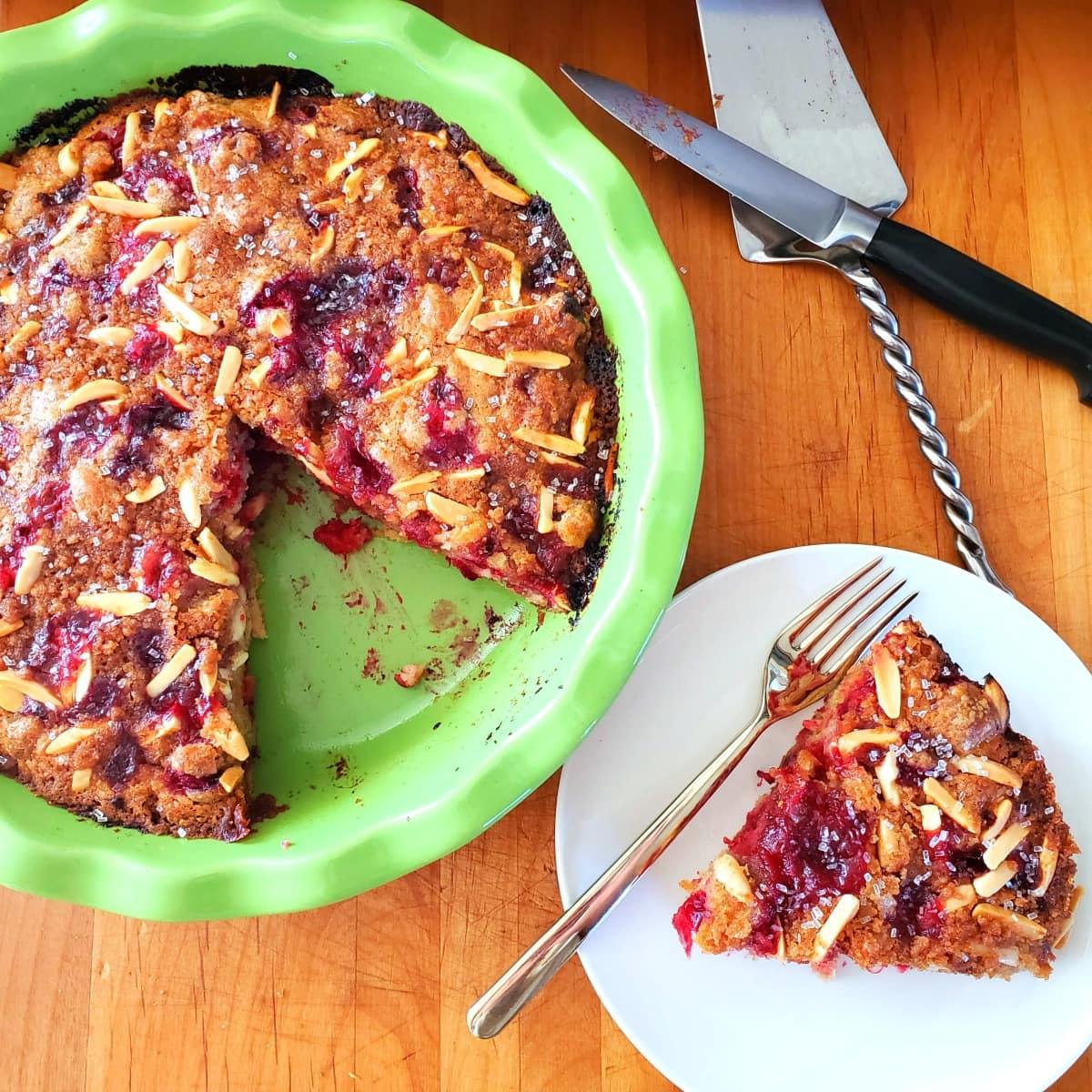 Easy Fresh Cranberry Breakfast Cake