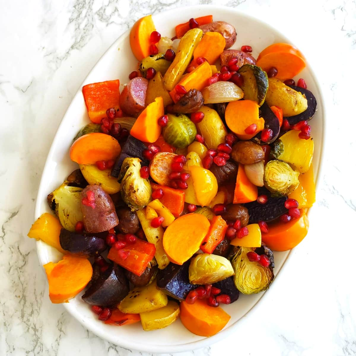 Easy Roasted Rainbow Vegetables on ShockinglyDelicious.com