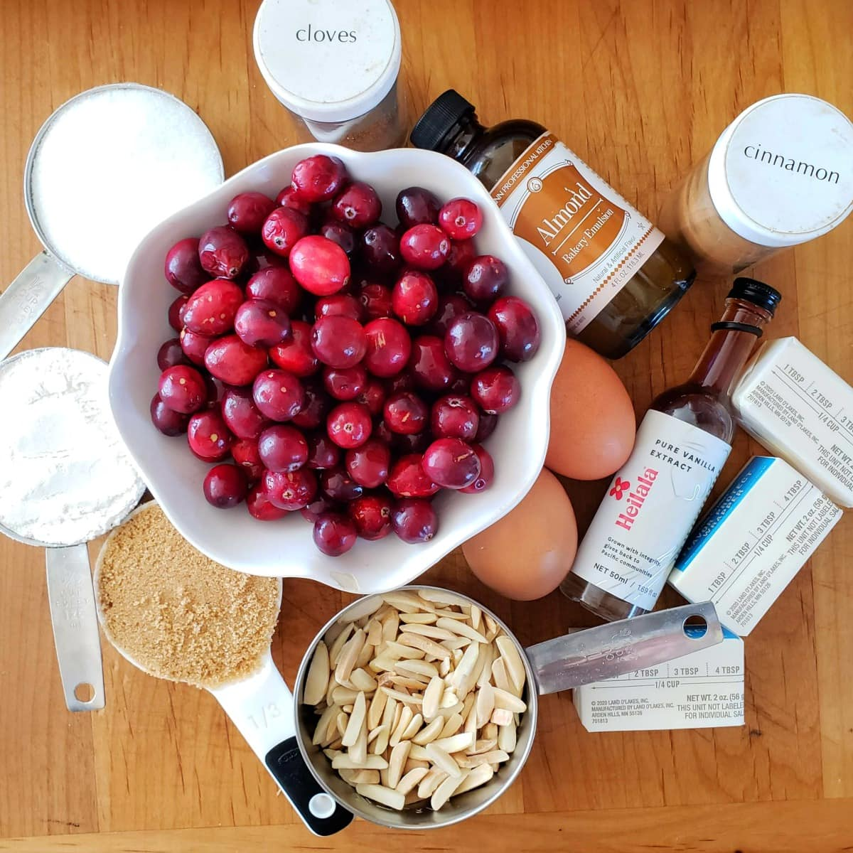Ingredients for Cranberry Breakfast Cake