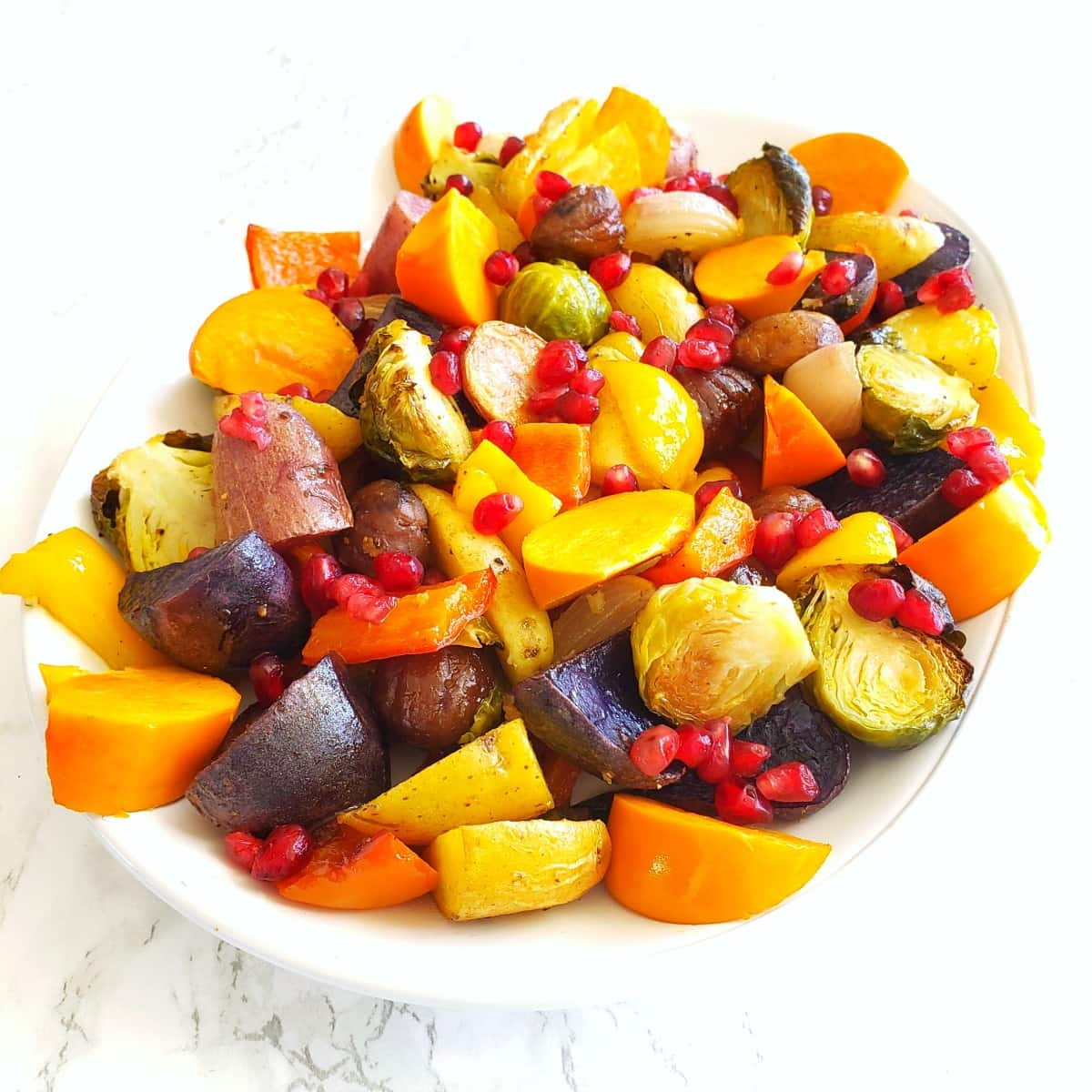Roasted Rainbow Vegetables for any dinner on ShockinglyDelicious.com