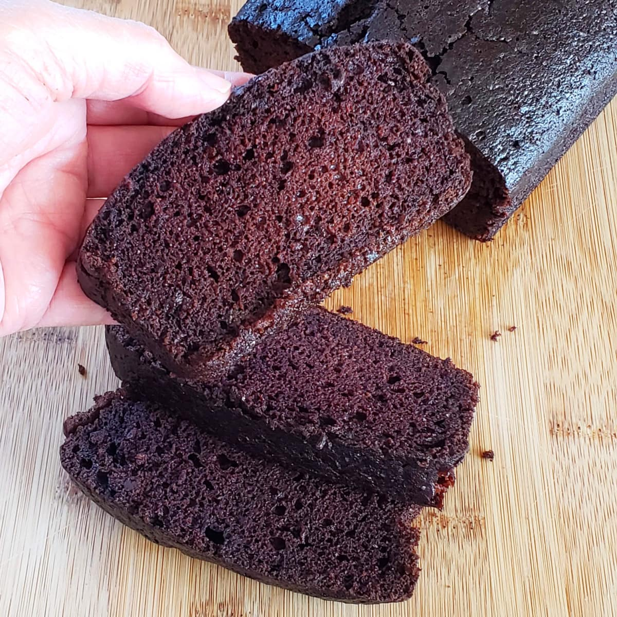 Easy Vegan Chocolate Loaf Cake on ShockinglyDelicious.com