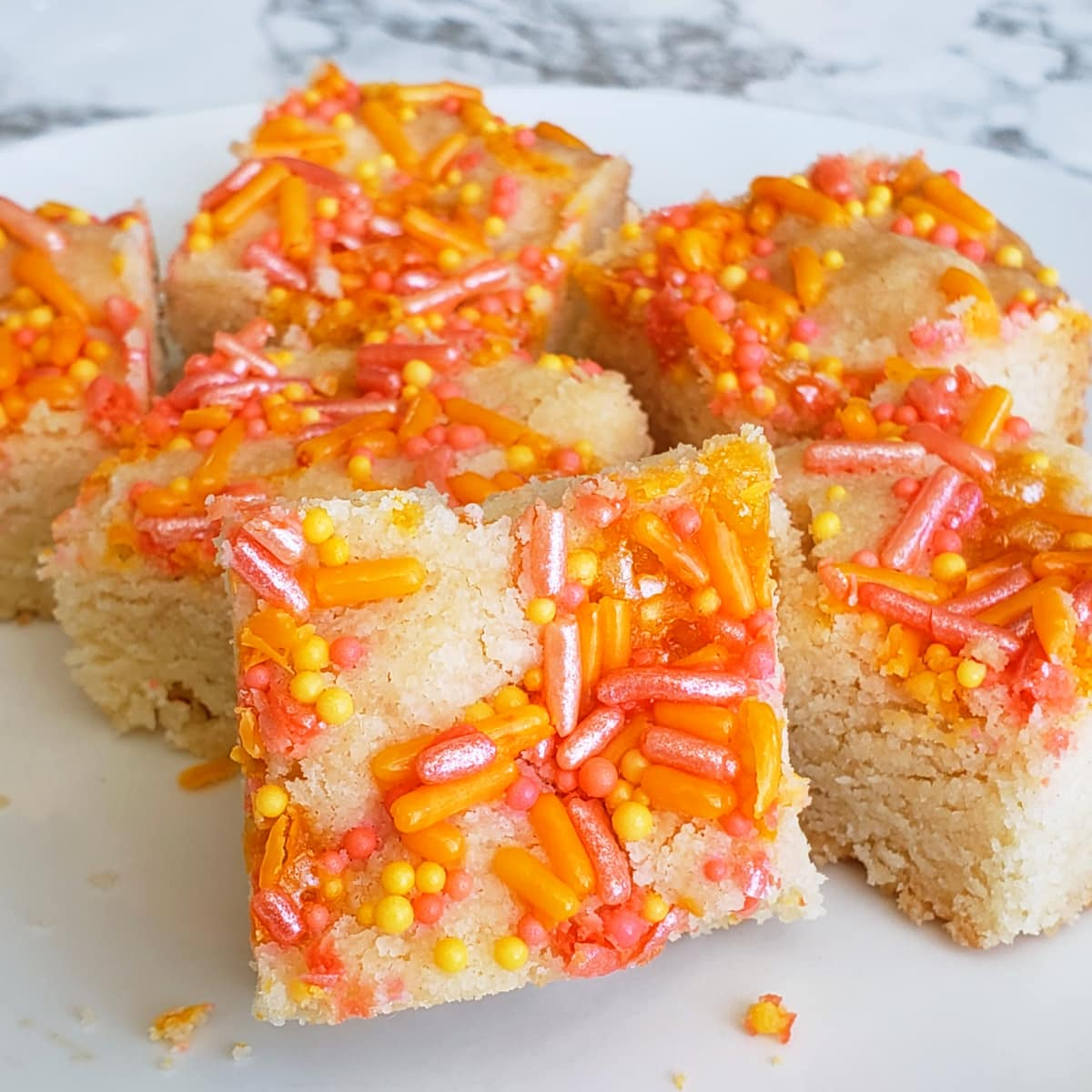Lemon Shortbread with Sprinkles looks very springy